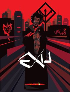 Eshu/Exu (Brazil) with trident, symbol of crossroads and chance Black Women Art, Black Art, Yoruba Orishas, African Mythology, Black Anime Characters, Fantasy Races, Man And Dog, Moorish, Oeuvre D'art