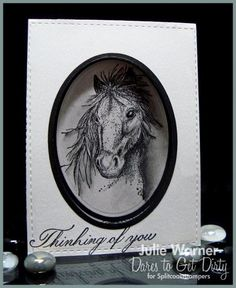 Mustang Portrait, DTGD14understandblueB by justwritedesigns - Cards and Paper…