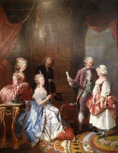 Marie Antointette and the princesse de Lamballe with Gluck and Salieri by Charles Année C. 1837