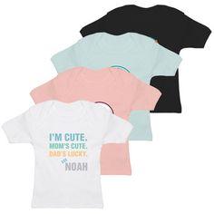 Individuelles Baby T-Shirt, bedruckt mit eigenen Foto und Text. #Geschenkidee