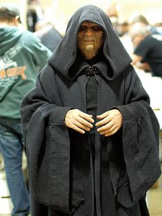 Emperor Palpatine, Star Wars, even in your golden years there are cosplay possibilities, something to keep in mind for the future.