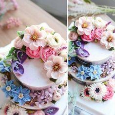 제이케이크 2단케이크 예쁜 꽃케이크 받으시고 행복한 하루 되셨으면 좋겠습니다 #flowercake#flower#buttercream#앙금플라워케이크#豆沙裱花#韩式裱花#ricecake#korea#design#color#플라워케이크#flower#koreanstyle#koreaflowercake#koreancake#cake#buttercreamflower#玫瑰#烘焙#设计#色彩#甜品#花#韩式#떡케이크 #플라워케익#杯子蛋糕#감성사진#꽃케이크