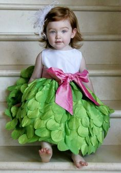 LOVE, LOVE, LOVE! Lime Petal Dress for Girls: BestDressedTot.com - Susanne Lively Special Occasion Dresses
