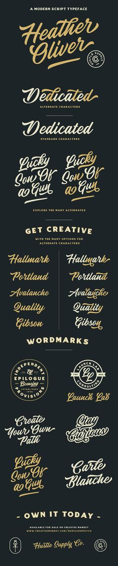 Heather Oliver - A Modern Script by Hustle Supply Co. on @creativemarket