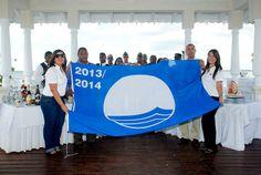 New Blue Flag Hoisting in our hotels of Dominican Republic. More information: http://blog.bahia-principe.com/en/2013/12/new-blue-flag-hoisting/
