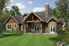 Plan B22157AA The Ashby is a 2768 SqFt Craftsman, Lodge style home plan featuring Covered Deck, Formal Dining Room, Mud Room , and Office by Alan Mascord Design Associates. View our entire house plan collection on Houseplans.co.