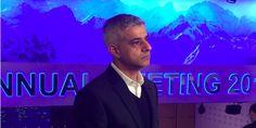 Sadiq Khan in Davos: 'Hard Brexit' will make London firms move to Hong Kong, Singapore, ...