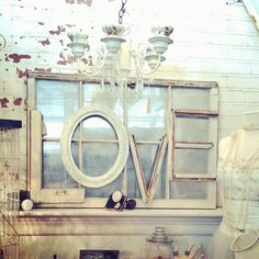 letters over mirror or window pane to decorate