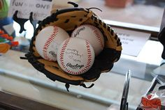 Have Guests Autograph Baseballs at Sports Themed Party