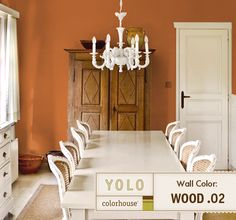 YOLO Colorhouse Wood.02 coral dining room