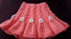Çiçek süsleme ve burgularla çok güzel olmuş. Baby Knitting Patterns, Lace Knitting, Knitting Socks, Crochet For Kids, Crochet Baby, Knit Crochet, Easy Model, Knit Baby Dress, Baby Skirt