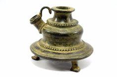 Antique Beautiful Hand Crafted Brass Hukka Base Pot. G9-40