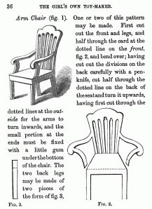 The Girl's Own Toymaker - Dolls' House Chair with Arms