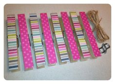 New KIT 8/30/12 Clothespin Clothesline Photo Hanging Kit Pink by owlpaperscissors, $10.00