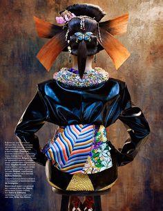 Photographer: Sebastian Mader Stylist: Natashy Royt #Geisha #Fashion #Modern #Goth