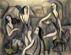 Лорансен Мари / Marie Laurencin ★Молодые женщины. 1909