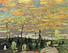 by Tom Thomson Canadian Painters, Canadian Artists, Pictures To Paint, Cool Pictures, Group Of Seven Art, Tom Thomson Paintings, Painted Toms, Most Famous Artists, Canada Images