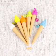 Ice Cream Pens - 6 Pcs from My Party Store