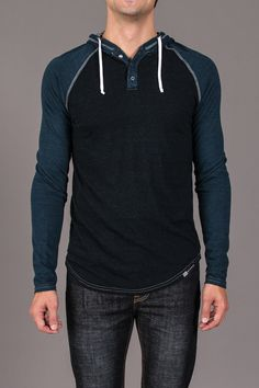 The Pitolo Hooded Henley by Venley on Jack Threads! $19