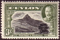 Ceylon 1935 King George V SG 369 Adams Peak Fine Mint SG 369 Scott 265 Condition Fine LMM Gum is toned Only one post charge applied on multipule