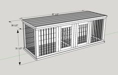 Plans to Build Your Own Wooden Double Dog Kennel – Size Large - dog kennel diy Wooden Dog Crate, Wire Dog Crates, Diy Dog Crate, Wood Dog, Wooden Diy, Cat Crate, Wooden Garden, Custom Dog Kennel, Wooden Dog Kennels