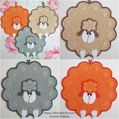 Sheep decor, potholder, pillow Amigurumi Zabelina Ravelry by LittleOwlsHut