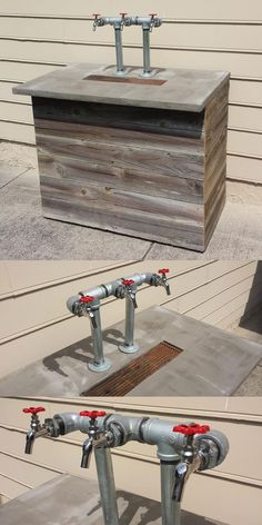 Kegerator industrial out of reclaimed wood and metal - #Palletwood #Palletideas #pallet