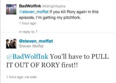 Steven Moffat: the only celebrity writer whose core base of fans mainly want to punch him in the face.