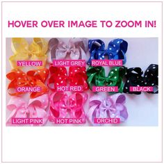 Polka Dot 6-inch Hair Bows Bundle