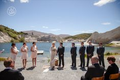 The Beautiful St Bathans Lake was the backdrop to this Wedding Couple's ceremony.  By Dan Childs at 222 Photographic Studios, Queenstown, New Zealand. #queenstownweddingphotographer #queenstownwedding