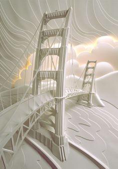 Paper Art - Awesome Bridge Detail !