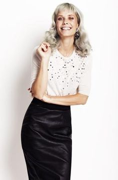 Singer Oh Land wearing By Malene Birger top and skirt from Christmas collection 2013