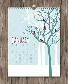 This large format wall art calendar is a collection of flora and fauna illustrations. It measures 9 x 12 and contains 12 monthly art prints.