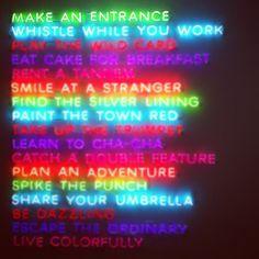 kate spade neon manifesto