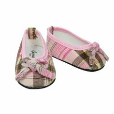 Pink & Brown Plaid Ballerina Shoe, Fits 18 Inch American Girl Dolls by Sophia's. $5.95. Fits 18 inch American Girl Dolls. Lovely Pair of Pink & Brown Plaid Ballet Flats. Our adorable ballerina shoes in pink and brown plaid are fabulous! Your 18 inch doll will be ready for a day out in these great shoes, perfect with jeans or skirts!