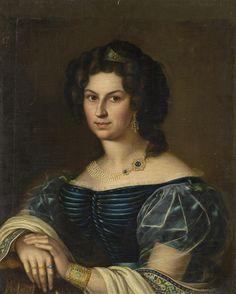 Неизвестный художник. 1830-х гг. Портрет молодой женщины Россия, 1830-е гг.