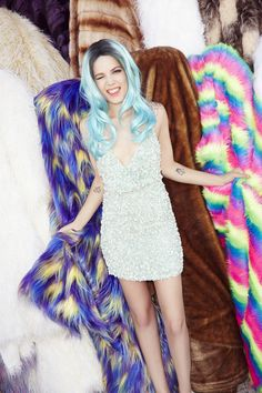 Halsey shines bright in the Mira Sequin Dress #NastyGalsDoItBetter || Shop the look: http://www.nastygal.com/whats-new_clothes/mlv-mira-sequin-dress?utm_source=pinterest&utm_medium=smm&utm_term=nastygals_do_it_better&utm_campaign=influencer
