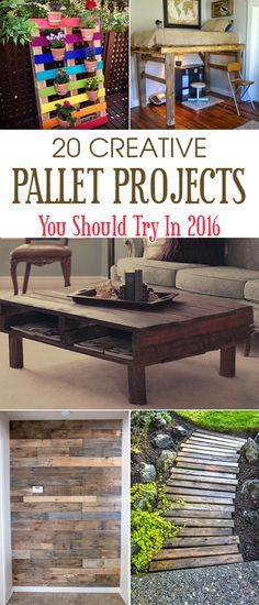 check out these awesome DIY pallet projects you should try in 2016 to have the most creative year ever!