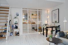 Small and Cozy Apartment with Mezzanine in Sweden | Interior Design Files