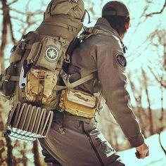 Cool back pack set up