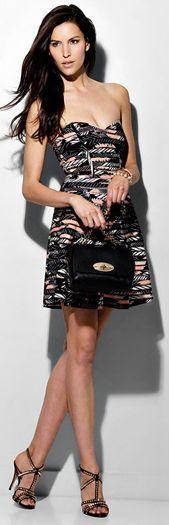 Parker Molly Print Mesh Dress