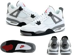 b6310c283519 Air Jordan 4 White Cement Men Shoes