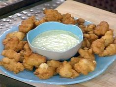 Caribbean Conch Fritters with Cilantro Tartar Sauce Recipe : Emeril Lagasse : Food Network Conch Recipes, Seafood Recipes, Fish Recipes, Food Network Recipes, Food Processor Recipes, Cooking Recipes, Conch Fritters, Caribbean Recipes, Caribbean Party