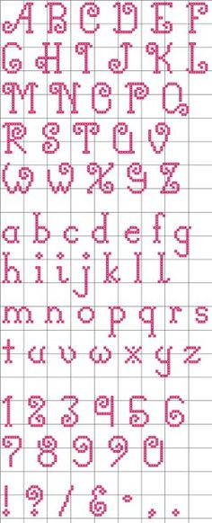 Cross Stitch Alphabet Free Printable | Curly Q's Alphabet 22 Cross Stitch Pattern