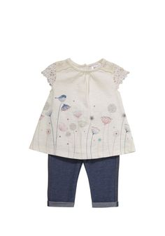 Clothing at Tesco   F&F Tunic and Jeggings Set > sets > Tops, T-Shirts & Hoodies > Baby