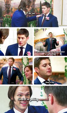 [gifset] 7x08 Season Seven, Time for a Wedding! #SPN #Dean #Sam