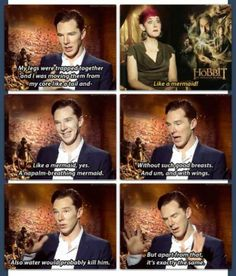 Benedict on the likeness between Smaug and a mermaid.