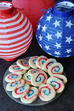 Forth of July Cookies in Red, White and Blue — Dan330