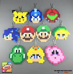 10 pcs Super Smash Bros Party Favors l Super Mario Party