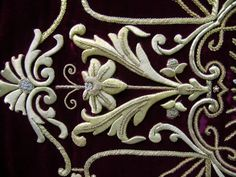 Detail of chasuble - ecclesiastical embroidery